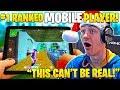 NINJA In SHOCK As MOBILE Pro Fortnite Player DESTROYS PC Pros!