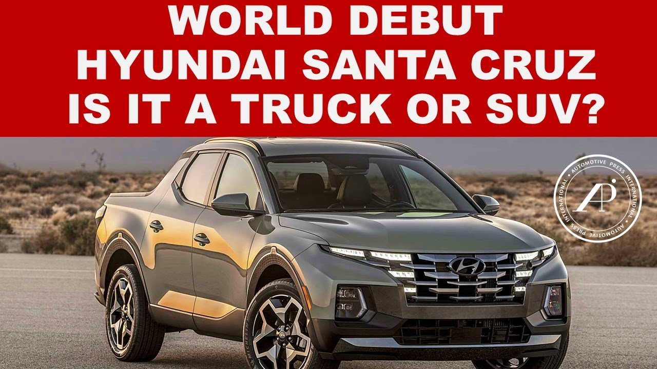 BREAKING NEWS FROM HYUNDAI - 2022 SANTA CRUZ is unlike any other truck or SUV ever