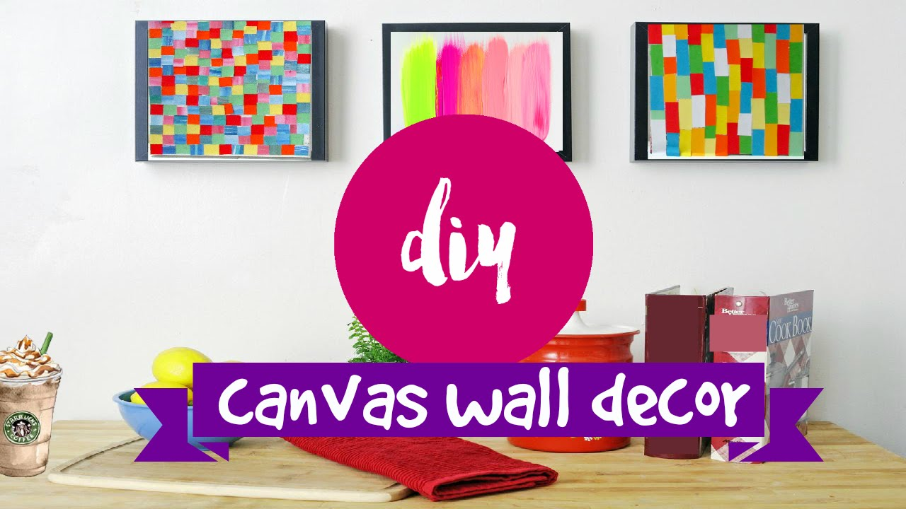 DIY ✂ WALL ART  2 Supereasy U0026 Simple Canvas Ideas   YouTube