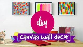 DIY ✂ WALL ART- 2 supereasy & simple canvas ideas