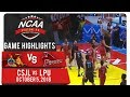 NCAA 94 MB: CSJL vs. LPU | Game Highlights | October 5, 2018