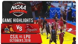 NCAA 94 MB: CSJL vs. LPU | Game Highlights | October 5, 2018