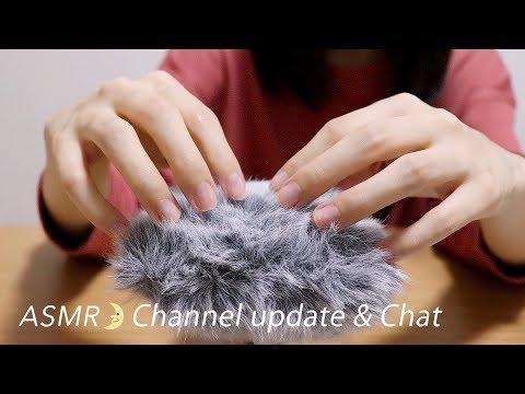 [Japanese ASMR] Channel update & Chat / Whispering / DR-40 / ENG SUB / お知らせと雑談