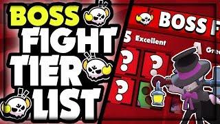 [Brawl Stars] Boss Fight Tier List | BEST & WORST Brawlers in Boss Fight