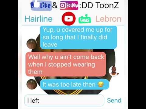 Lebron James Texting his Hairline