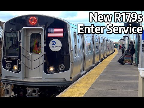 ⁴ᴷ New R179 Subway Cars - First Day of Passenger Service