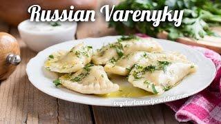 Russian Varenyky With Potatoes | Stuffed Vegan Dumplings Recipe