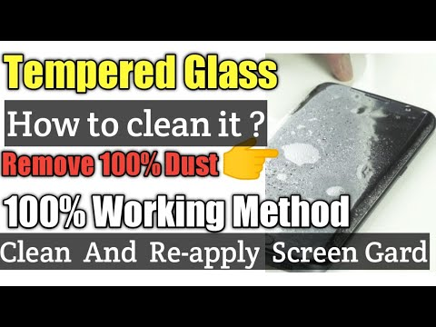 """Clean And Reapply """"Tempered Glass"""""""