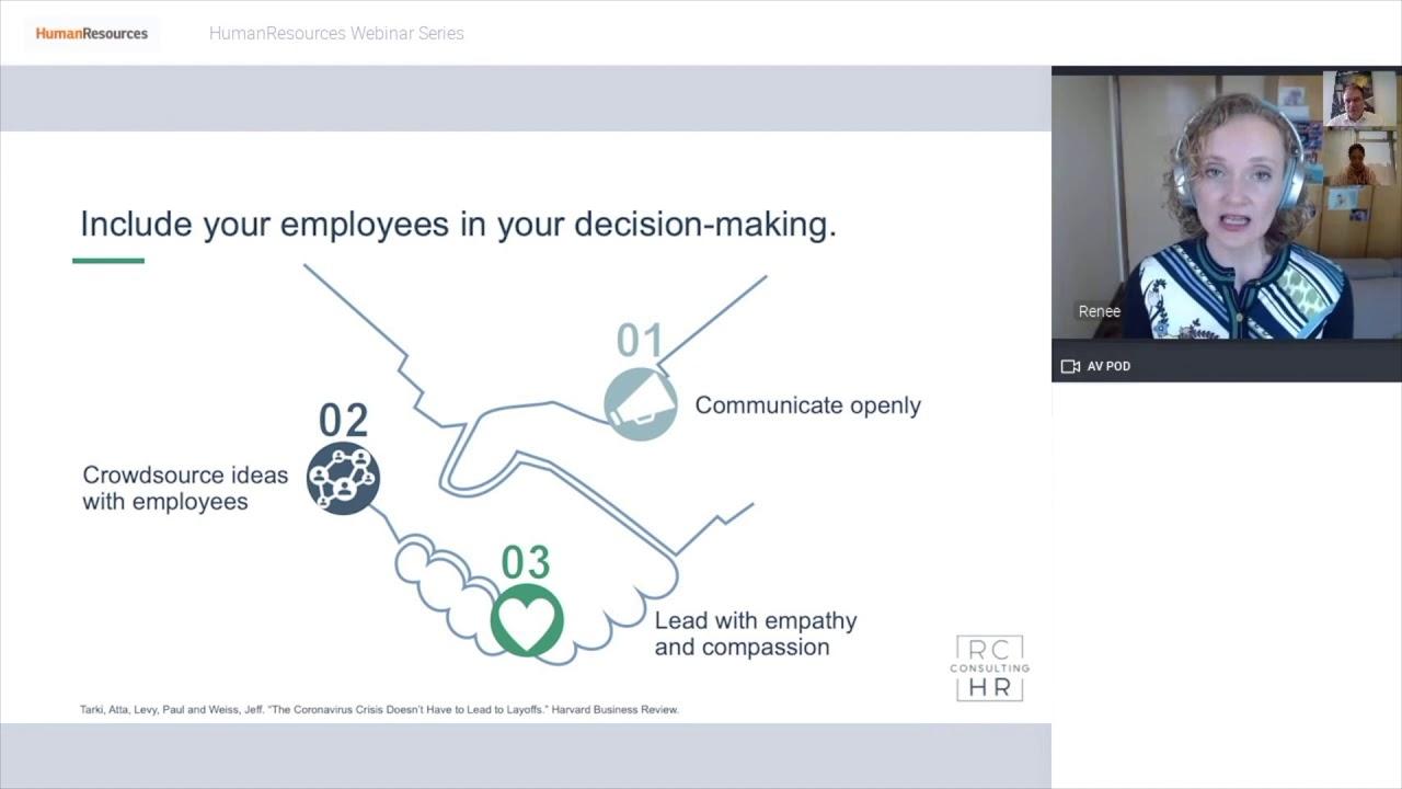 Engage Employees during layoffs | HR Magazine Webinar | RCHR