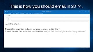 How To Compose Emails At Lightning Speed Using Lightkey's Predictive Typing For Windows