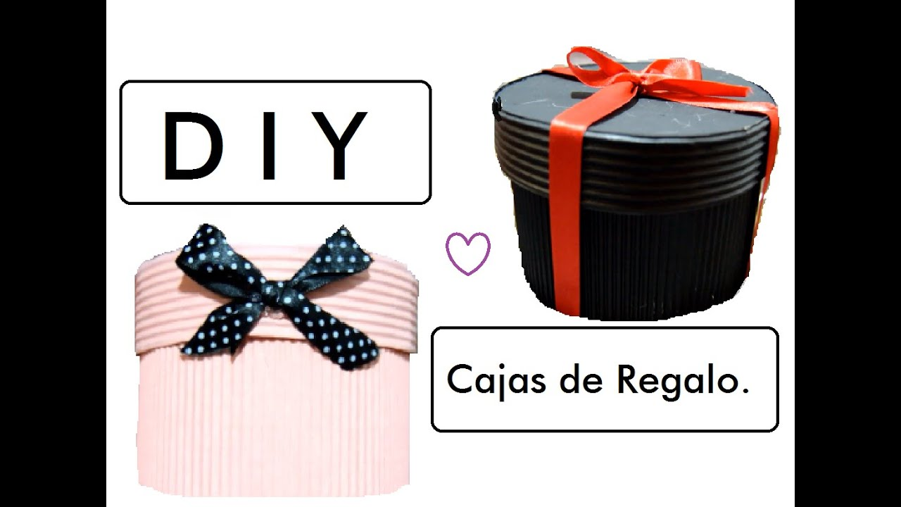 Caja De Regalo Con Papel Corrugado Youtube