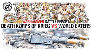 Warhammer 40,000 (Battle Report) - Death Korps of Krieg vs World Eaters