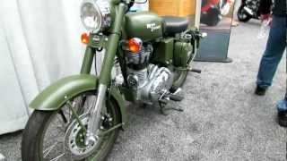2012 Royal Enfield Bullet C5 Military Battle Green / Desert Storm Walk Around & Info