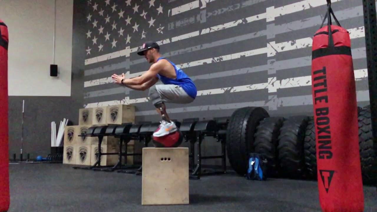 Mike Shea Box Jump - 2018 Winter Paralympic Hopeful - YouTube