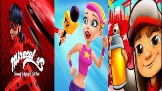 subway surfers Tokyo VS Miraculous Ladybug & Cat Noir VS Hollywood Rush  Gameplay