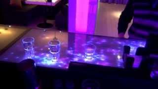 Интерактивный стол ресторана Мохито длинною 4,5 м - эффект Звёзды(Специально для ресторана