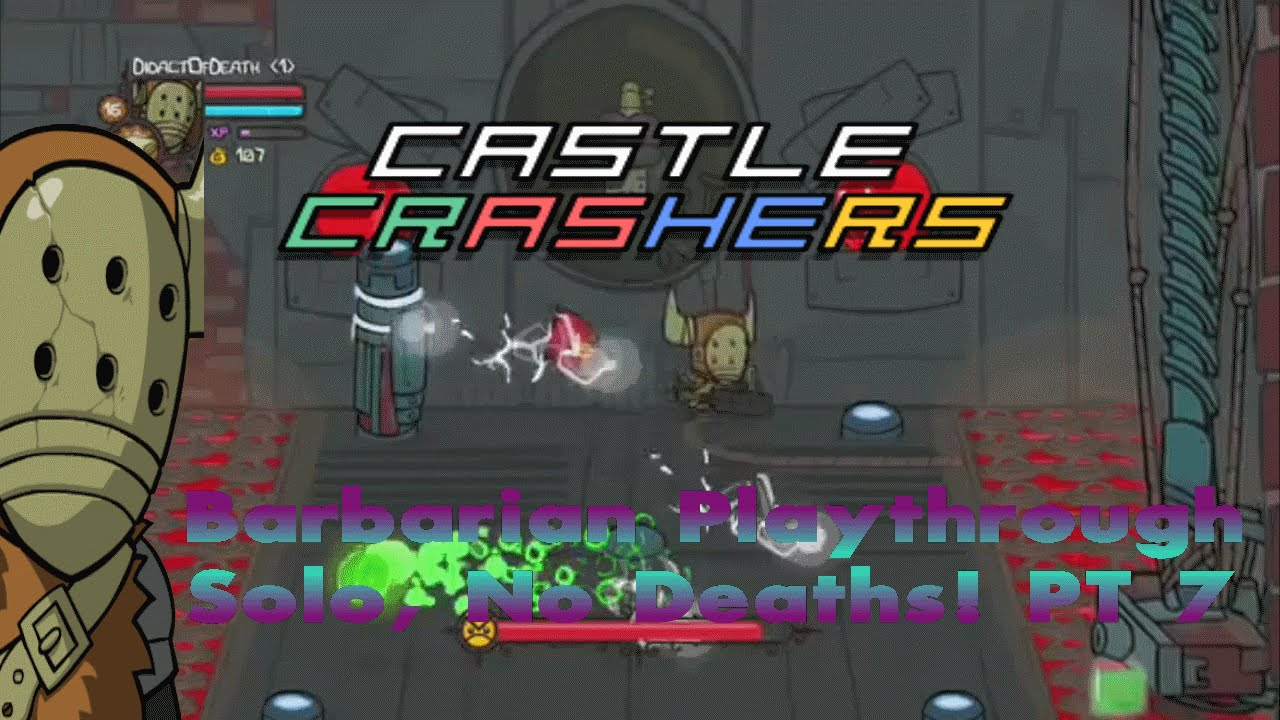 Castle Crashers Remastered Solo, 0 Deaths & Live Twitch Stream  (Part 7)