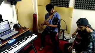 aaj jane ki jid na karo ye hasi wadiya flute guitar cover by e base band