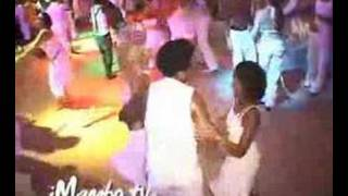 Joel having fun on the Curacao Salsa Tour leading two women, Chandr...
