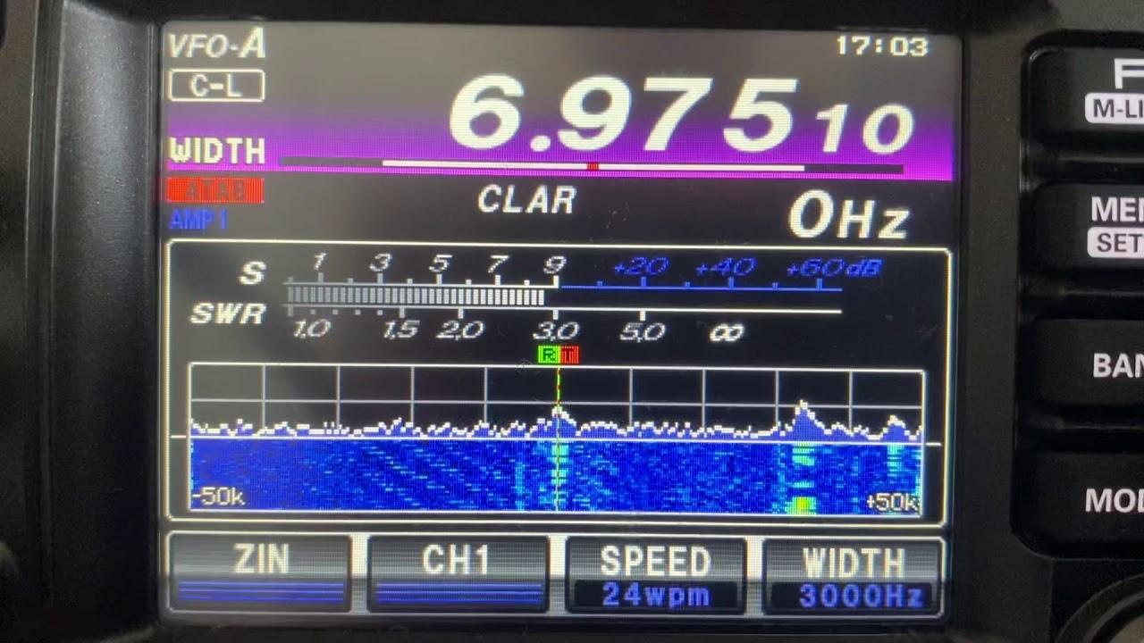 怪電波ーモールス信号の乱数放送