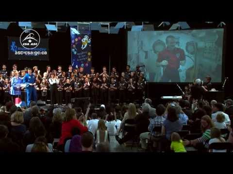 Chris Hadfield and students from coast-to-coast fill the sky with music (excerpt)