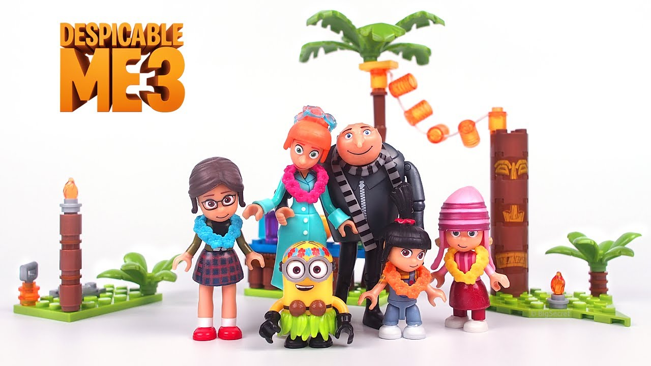Despicable Me 3 Family Luau Party 123 PCs  Mega Construction Ages 5 And Up