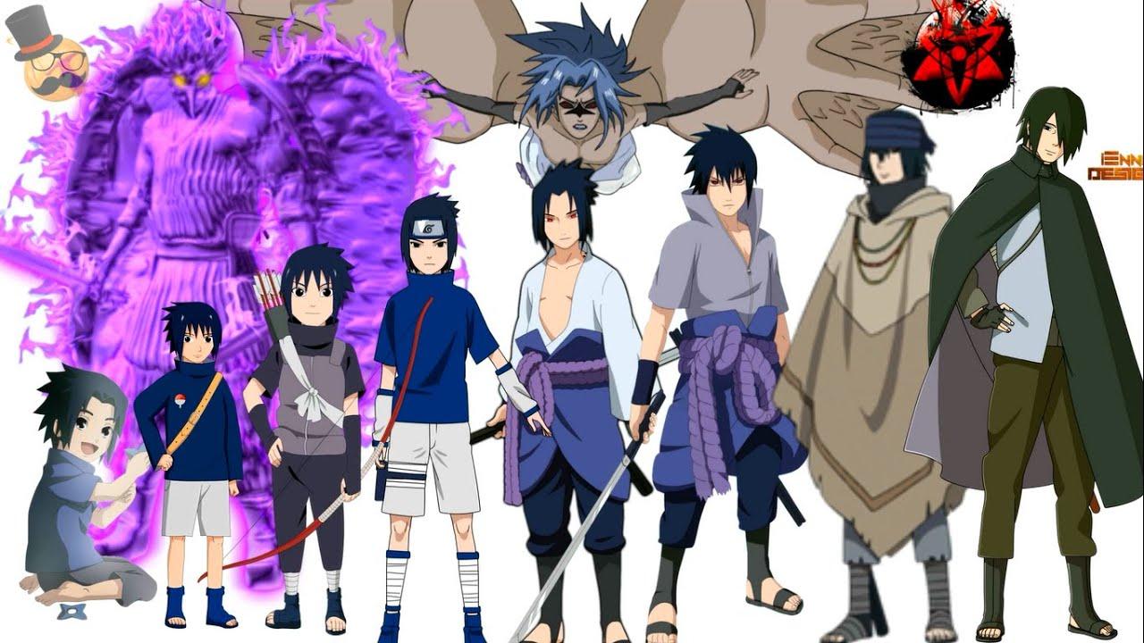 Naruto characters uchiha sasuke 39 s evolution youtube - All naruto characters ...