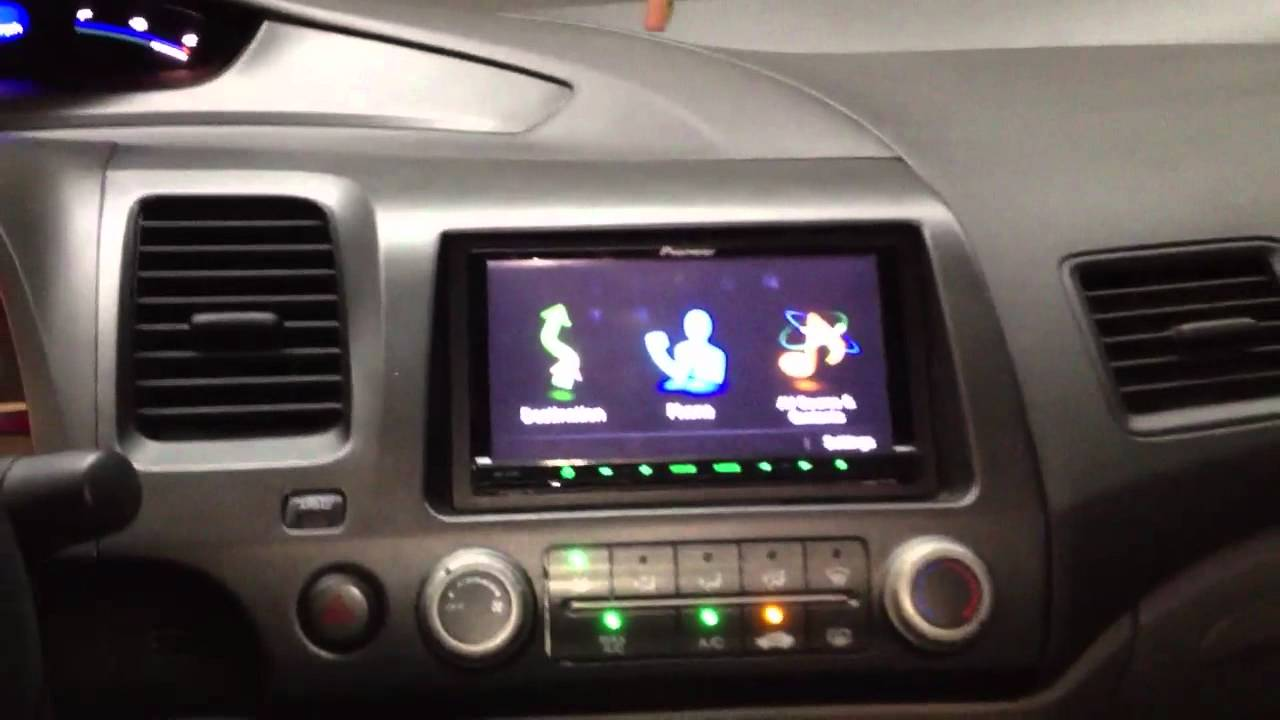 Honda Civic 2008 With Pioneer Avic Z130bt Youtube