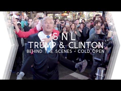 Behind the Scenes: SNL Cold Open w/ Alec Baldwin as Donald Trump @ Times Square