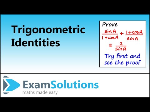 Trigonometry : Proving trig Identities (example 1) : ExamSolutions