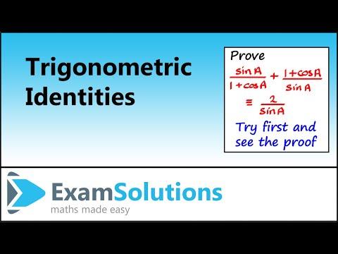 Proving Trigonometric Identities | ExamSolutions - YouTube