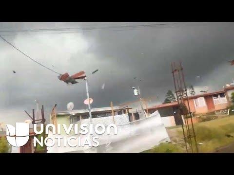 Un tornado se lleva tejados y causa daños en Costa Rica