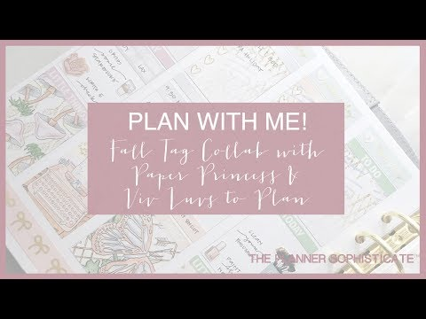 Collab Fall Tag Plan With Me w/ Paper Princess & Viv Luvs to Plan // Ft . SPC