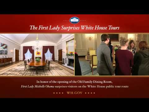 Michelle Obama Surprises Tourists On White House Tour