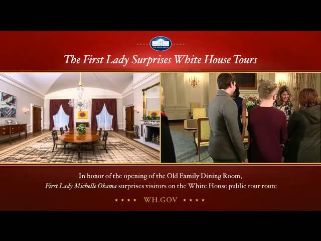 Michelle Obama Surprises Tourists On White House Tour