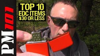 (2016) Top 10 Useful EDC Items For $30 Or Less (GAW) - Preparedmind101