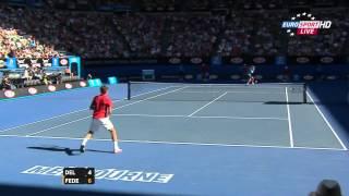 Australian Open 2012 Q F   Federer vs Del Potro HD