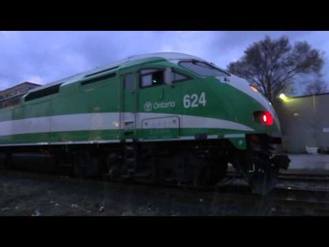 Various Via Rail, GO Transit, and Freight Train Action in Kitchener, ON Spring of 2012