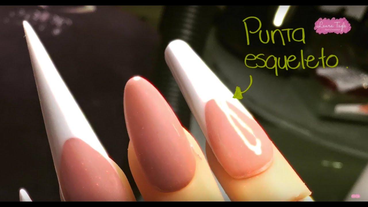 Cómo hacer una punta ESQUELETO (Tipos de Puntas para uñas) - YouTube