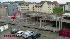 Time lapse démolition d'un parking à Fribourg - Demolition of a parking