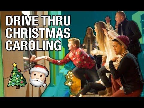 Drive Thru Christmas Caroling (SINGING)