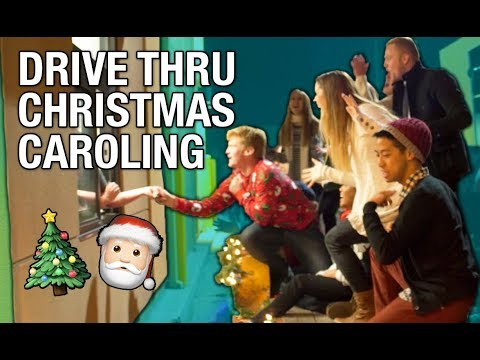 Drive Thru Christmas Caroling (SINGING)