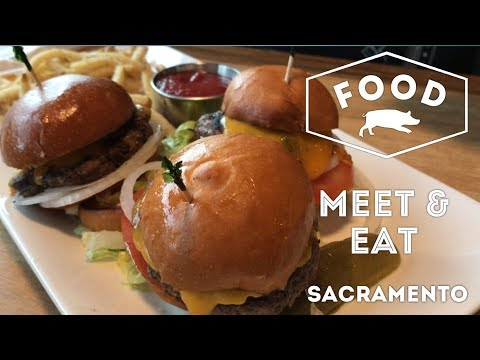 Spaghetti Carbonara and Sliders at Meet & Eat in Sacramento, California | FOOD VLOG