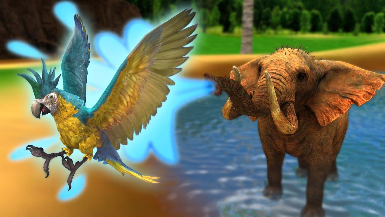 हाथी और शरारती तोता - Elephant & Funny Parrot Hindi Kahaniya - 3D Animated Panchatantra MoralStories
