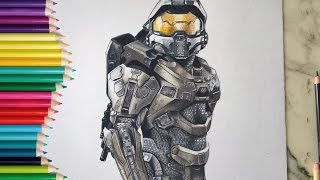 Drawing Master Chief from HALO! | Lily Fee