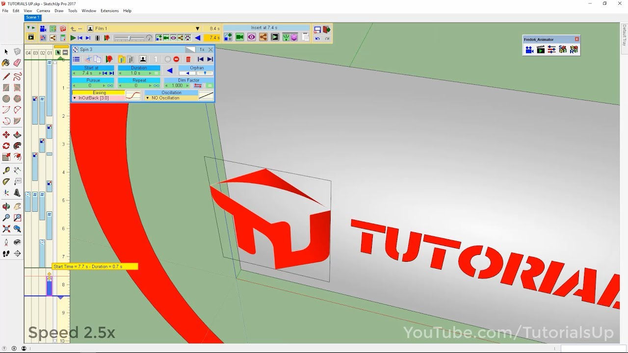 Simple Animation Using Fredo6 Animator In Sketchup