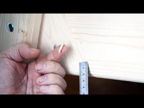 Заделка швов, трещин, щелей и стыков в древесине шпаклевкой. Шпаклевание