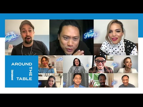 'In the Heights' Cast Reacts to Their New Film | Around the Table | Entertainment Weekly