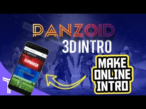 how to make 3d intro on android panzoid / how to make a 3d intro on android using panzoid