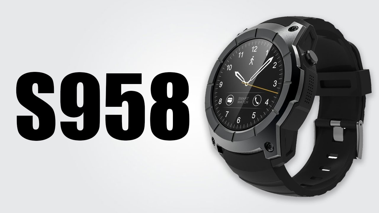 18855e1fd9a5 S958 GPS Smartwatch - 1.3inch   Heart rate monitor   Pedometer   Music play